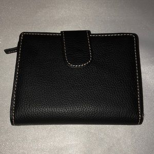 Andrew Marc black leather wallet